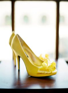 Brides: don't be afraid of using color! Shoes can be any color you wish, and make Bridals more fun and beautiful!