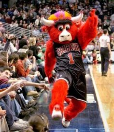Chicago Bulls mascot Benny the Bull.