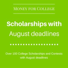 Attending a college can be quite expensive for students and their families. Luck … Attending college can be quite expensive for students and their families. Luckily, there are many college scholarships and contests available to help pay for a college educ Grants For College, Financial Aid For College, College Planning, College Fun, Education College, College Life, College Counseling, College Ready, College Essay