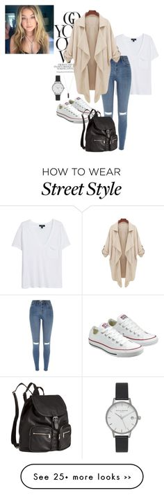 """street style"" by kingposeey on Polyvore featuring MANGO, River Island, Converse, H&M, Karen Kane and Olivia Burton"
