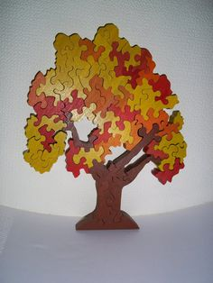 Wooden puzzle Tree by FamilyPuzzle on Etsy