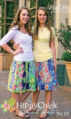 cute for McK... wish I sewed!!  Pink Fig skirt pattern for tweens  teens