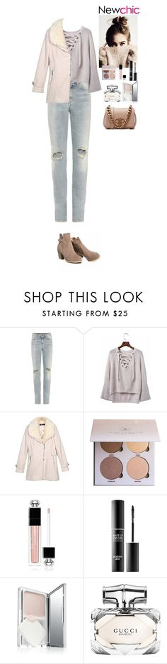 """""""Outfit Newchic Style"""" by eliza-redkina on Polyvore featuring мода, Yves Saint Laurent, Anastasia Beverly Hills, Christian Dior, MAKE UP FOR EVER, Gucci и Emilio Pucci"""