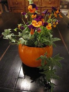 Pumpkin Flower Pot Tutorial