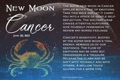 This super new moon in Cancer is bringing all the feels ♋  What emotions are bubbling up for you?