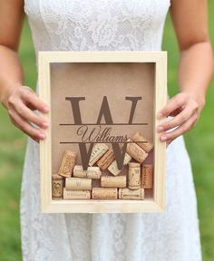 Personalized Wine Cork Keeper Style 14 - Name and Initial