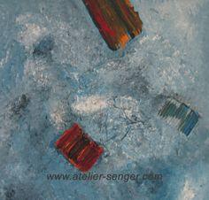 Sei im Fluss, 50 x 50 cm. Bitte hier klicken: www.art-senger.com #malerei #kunst #art #fluss