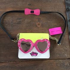 Betsey Johnson Cross body bag Such a cute little purse. This is brand new with the tags on. Has a small zipper pocket inside. Betsey Johnson Bags Crossbody Bags