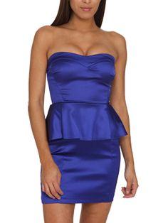 Satin Sweetheart Peplum Dress SALE