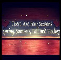 We prefer to think of it as playoff hockey, waiting for hockey, preseason hockey, and HOCKEY!!