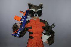 DIY Rocket Raccoon Halloween Costume