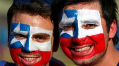 Chile fans enjoy the atmosphere