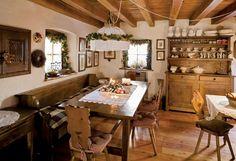 Spacer w czasie - Spacer w czasie - Weranda Country Decor, Interior, Dining, Kitchen Table, Dining Table, Table, Home Decor, Rustic Dining Table, Rustic House