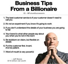 5 Essentials For Entrepreneurial Success Business Tips from a Billionaire - Jeff Bezos Business Motivation, Business Advice, Business Quotes, Business Planning, Online Business, Sales Motivation, Business Education, Motivation Success, Success Mindset