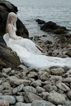 Washed ashore mermaid. Banished from the kingdom