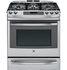 "PGS920SEFSS | GE Profile™ Series 30"" Slide-In Gas Range with Warming Drawer 
