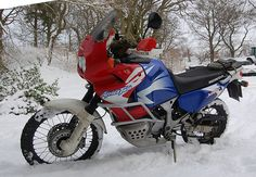 Africa Twin in the snow (1)