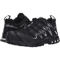 Salomon XA Pro 3D (Black/Black/White Multi Snake) Women's Running... (1.212.625 IDR) ❤ liked on Polyvore featuring shoes, athletic shoes, black, salomon shoes, lightweight athletic shoes, light weight running shoes, athletic running shoes and lace up shoes