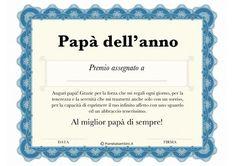 Diploma per la festa del papà da stampare gratis
