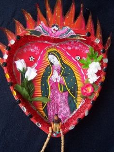 A shrine to Our Lady of Guadalupe, similar yo that in the Alba home in the novel. Who knows what happens to the shrine in the book?
