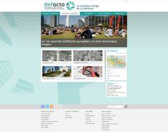 Conception et réalisation du site internet du quartier d'affaire de La Défense (Defacto) :  #Minit-L  www.minit-l.com