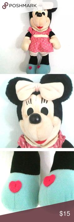 """Minnie Mouse Plush Doll Vintage Minnie Mouse Plush Toy.  May need a little cleaning but in great condition. No rips, holes or stains. From smoke free home. Fully Dressed. Disney Toy. 12"""" Tall. Disney Other"""