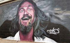 Happy Friday from Big Lebowski! Art by @srilart in Salt Lake City US (http://globalstreetart.com/sril). #globalstreetart