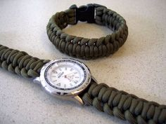 Paracord Watchband/bracelet With a Side Release Buckle
