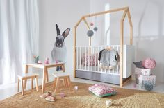 New Scandinavian (70x140) Cot Bed extendnig to propper 70x160 junior bed. With Funky house wooden frame! Available online exlusively at http://funique.co.uk