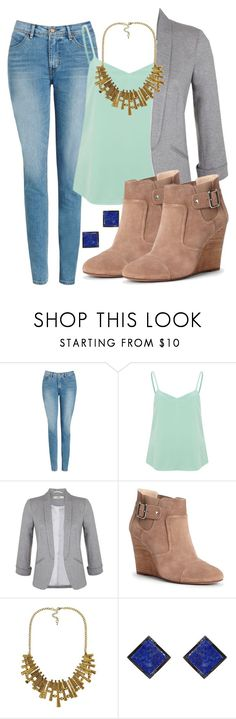 """Gwen Stacy Inspired Outfit with Levi's Jeans"" by lauloxx ❤ liked on Polyvore featuring Levi's, Vero Moda, Miss Selfridge, Sole Society, Retrò, ADORNIA, Spring, casual and GwenStacy"