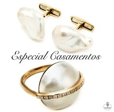 Hoje deixamos-lhe duas sugestões muito especiais. Para ele, botões de punho. Para ela, anel de noivado. Ambos feitos em pérola, o símbolo do amor e do casamento.  Crie o seu próprio conto de fadas, escolhendo jóias únicas e à sua medida. Visite-nos na Av. da Liberdade, 102, em Lisboa, para conhecer estas e outras peças.  #mariajoaobahia #joias #jewelry #joiasdeautor #avenidadaliberdade #pearl #perola #anel #ring #botoesdepunho #cuffs #gold