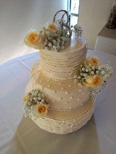 Shabby Chic themed Wedding Cake