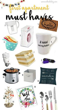 First Apartment Must-Have Items! Perfect for college students and millennials!