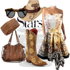 """""""Cowgirl style"""" by krystynastyle"""