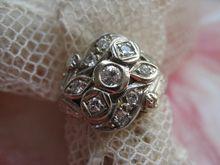 14K diamond Cocktail Ring Circa 1930