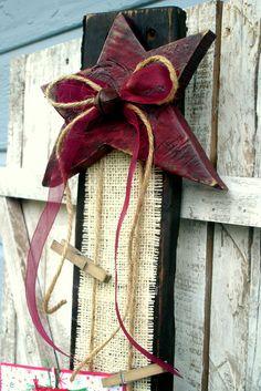 Card Holder/ Photo Display... I love the star!