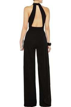 Issa Silk-jersey halterneck jumpsuit - 51% Off Now at THE OUTNET