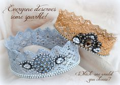 The Easiest & Quickest Way to Make Lace Crowns