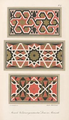 One of hundreds of thousands of free digital items from The New York Public Library. Painting Patterns, Canvas Patterns, Geometric Designs, Geometric Art, Art Deco Pattern, Pattern Design, Motifs Islamiques, Grafic Art, Islamic Art Pattern