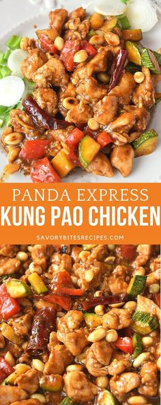 Panda Express menu is a favorite of many and this Kung Pao Chicken is restaurant style takeout recipe of kung pao chicken better than takeout savorybitesrecipes kungpaochicken restaurantstyle takeout betterthantakeout pandaexpress Kung Pao Chicken Recipe Easy, Chicken Recipes Juicy, Panda Express Kung Pao Chicken Recipe, Recipe For Kung Pao Sauce, Panda Express Teriyaki Chicken, Pao Recipe, Panda Express Menu, Panda Express Recipes, Clean Dinners