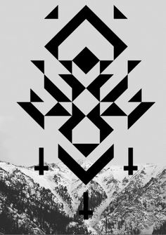geometric shapes + mountain