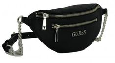 !!!Bauchtasche Caley Mini Guess Black Kettengürtel Work Outfits, Mini, Script, Classy, Bags, Accessories, Satchel Handbags, Purses, Fanny Pack