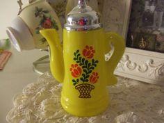 Avon Collectibles Coffee Pot, Yellow Bottle