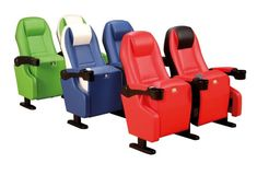 As one of the most professional 2 seater theatre chairs manufacturers and suppliers in China, we bring here high quality theater seating with good price. Welcome to buy 2 seater theatre chairs for sale here from our factory. Cinema Chairs, Movie Chairs, Cinema Seats, Metal Foam, Auditorium Seating, Home Theater Seating, Cinema Movies, Colorful Chairs, Bonded Leather