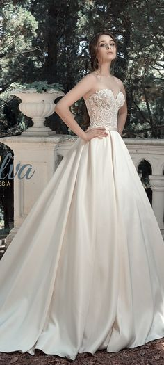 Milva Bridal Wedding Dresses 2017 Alfreda / http://www.deerpearlflowers.com/milva-wedding-dresses/8/