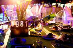 Instead of going in numerical order at the October 2011 dinner for Boston's Institute of Contemporary Art's anniversary, each table number represented an important year in the museum's 75-year history.