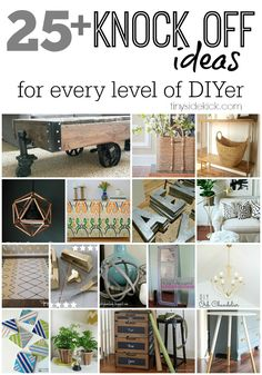 Knock Off Decor Series Finale 25 Knock Off Decor Tutorials all in one place {Knock Off Decor Series Finale} Diy Interior, Diy Projects To Try, Home Projects, Diy Decorations Tutorial, Knock Off Decor, Do It Yourself Inspiration, Nate Berkus, Do It Yourself Home, Vintage Design