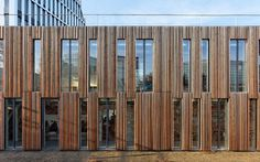 School facade by Dietmar Feichtinger Architectes
