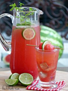 Watermelon Ginger Limeade by The Fit Fork