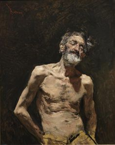 Viejo desnudo al sol - Colección - Museo Nacional del Prado